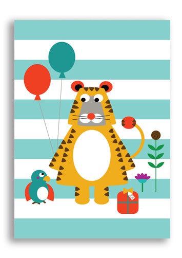 Olive and Moss Tarquin The Tiger Postcard Sold in 12's
