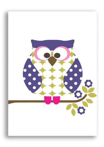 Olive and Moss Otto The Owl Postcard Sold in 12's