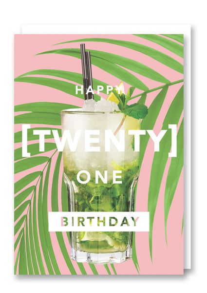 Revista Twenty One Greetings Card Sold in 6's