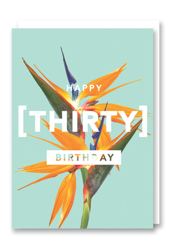 Revista Thirty Greetings Card Sold in 6's
