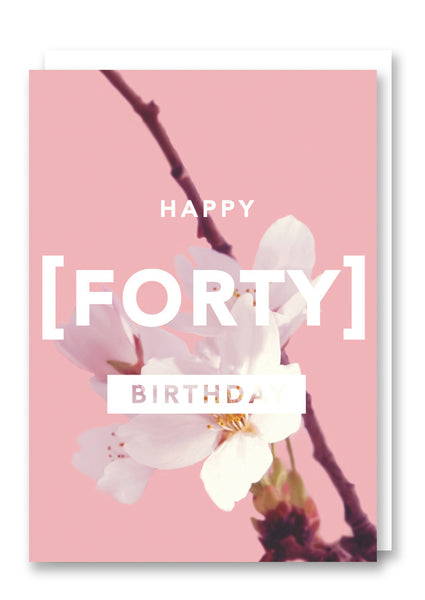 Revista Forty Greetings Card Sold in 6's