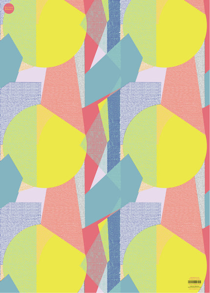 Oliver Bonas Peg Geo Wrapping Paper Sold in 25's (ONLY AVAILABLE TO CUSTOMERS BASED OUTSIDE THE UK)