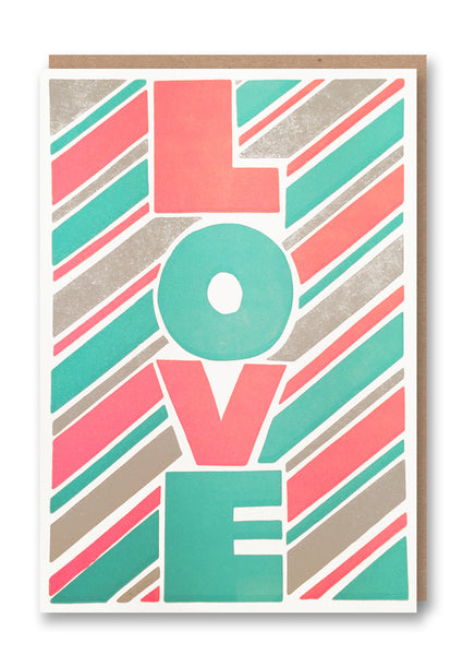 Sukie Love Letterpressed Greetings Card Sold in 6's