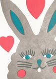 Rabbit Letterpress Card