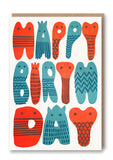 Birthday Letters Letterpress Card