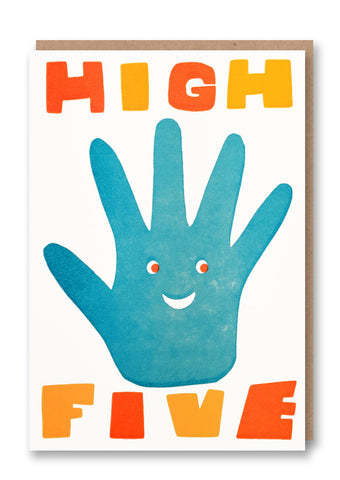 Sukie High Five Letterpressed Greetings Card Sold in 6's