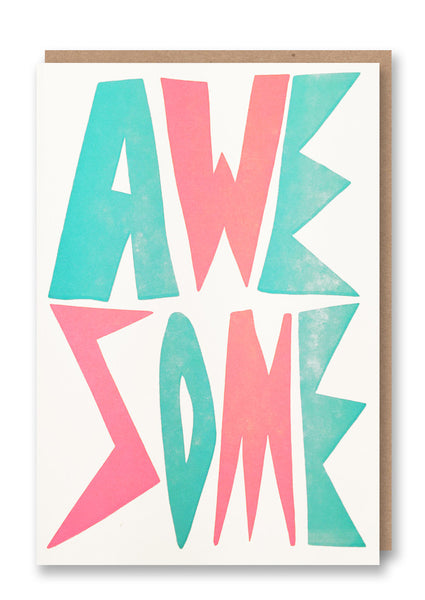 Sukie Awesome Letterpressed Greetings Card Sold in 6's