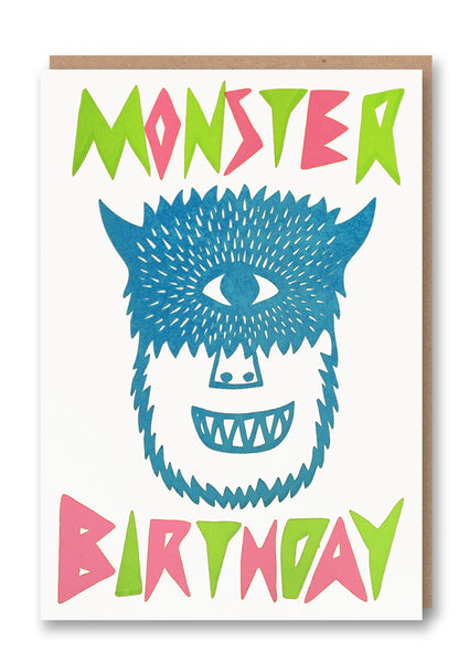 Monster Birthday Letterpress Card