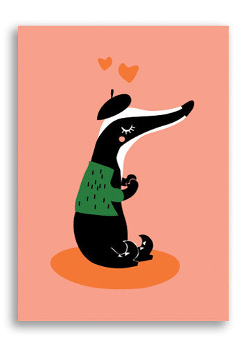Darling Clementine Skunk Postcard Sold in 12's