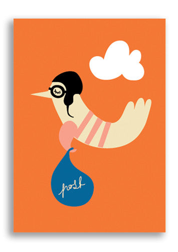 Darling Clementine Postbird Postcard Sold in 12's