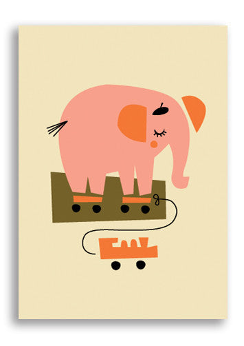 Darling Clementine Elephant Postcard Sold in 12's
