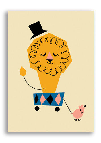 Darling Clementine Lion Postcard Sold in 12's