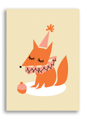 Darling Clementine Fox Postcard Sold in 12's