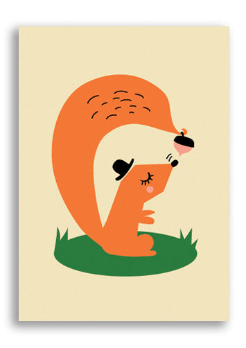 Darling Clementine Squirrel Postcard Sold in 12's