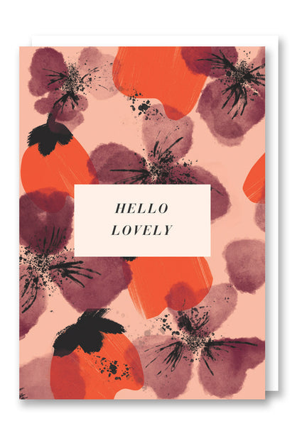 Darling Clementine Iris Greetings Card Sold in 6's