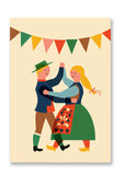 Folk Dance Postcard