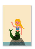 Anna Kövecses Mermaid Postcard Sold in 12's