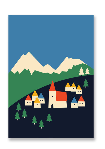 Anna Kövecses Mountains Postcard Sold in 12's