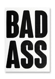 Letterpress Bad Ass Postcard Sold in 12's