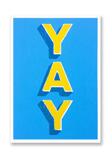 Letterpress YAY Postcard