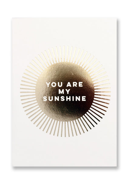 Letterpress My Sunshine Postcard