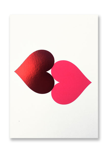 Letterpress The Kiss Postcard Sold in 12's