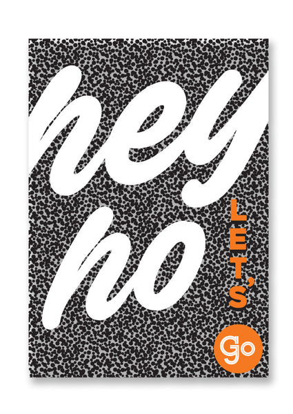 Letterpress Hey Ho Let's Go Postcard