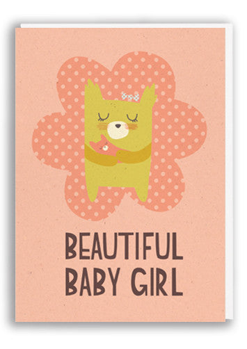 Paper and Cloth Baby Girl Greetings Card Sold in 6's