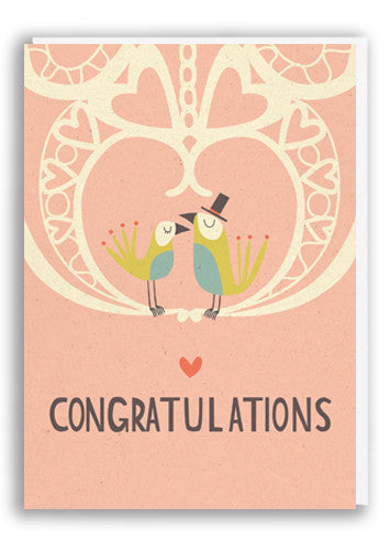 Paper and Cloth Congratulations Greetings Card Sold in 6's