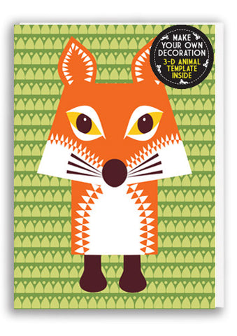 Mibo Fox Greetings Card Sold in 6's