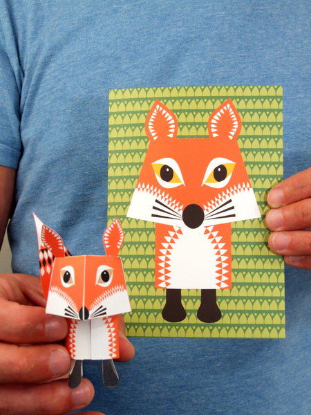 Fox Greetings Card Sold in 6's