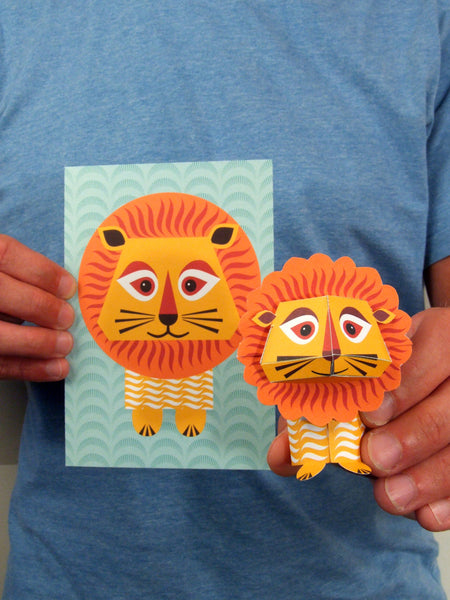 Mibo Lion Greetings Card Sold in 6's