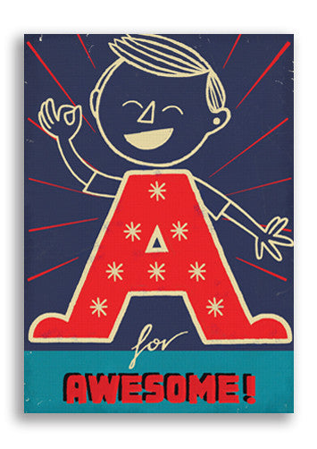 Paul Thurlby A Is For Awesome Postcard Sold in 12's