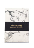 Marble A6 Notebooks - pack of 3