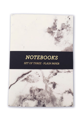 Marble A5 Notebooks - pack of 3