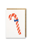 Bits and Bobs Candy Cane Letterpress Christmas Mini Card Pack of 6