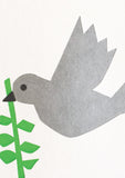 Bits and Bobs Dove Letterpressed Christmas Mini Card Pack of 6 - Sold in 6's