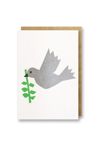 Bits and Bobs Dove Letterpressed Christmas Mini Card Pack of 6
