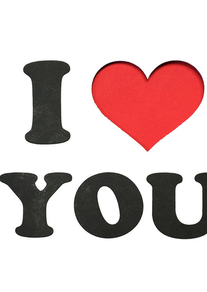 I Heart You Letterpress Card