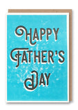 Happy Father's Day Type Letterpressed Greetings Card Sold in 6's