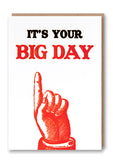 Big Day Letterpress Card