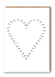 Dot To Dot Heart Letterpress
