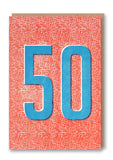 Fifty Letterpress Card