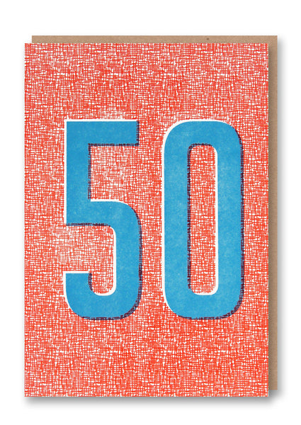 Fifty Letterpress Card Sold in 6's