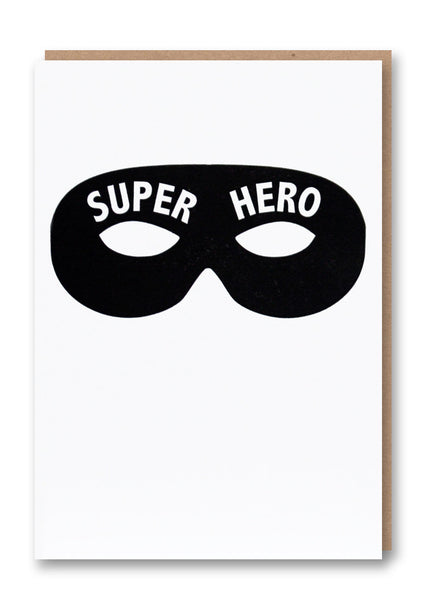 Superhero Letterpress Card