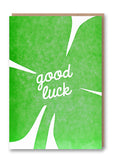 Good Luck Clover Letterpress Card