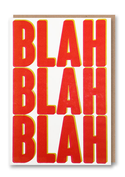 Blah Blah Blah Letterpress Card