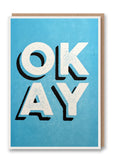 Okay Letterpress Card