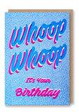 Whoop Whoop Letterpress Card