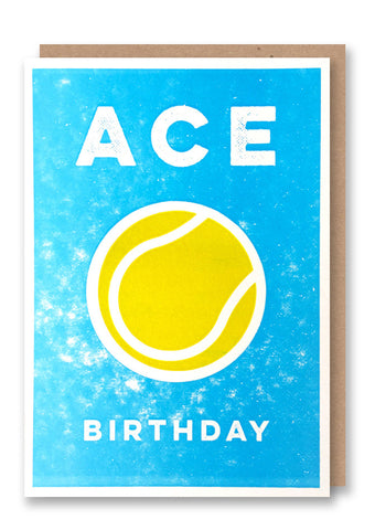 Ace Birthday Letterpressed Greetings Card Sold in 6's